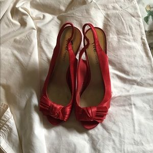 💜Sling back heels by Fioni Night red